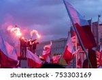 warsaw  poland   november 11 ... | Shutterstock . vector #753303169