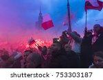 warsaw  poland   november 11 ... | Shutterstock . vector #753303187