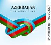 baku vector and azerbaijan flag ... | Shutterstock .eps vector #753305374