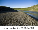 river beach in the tundra near... | Shutterstock . vector #753306331