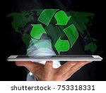 view of a technology ecologic... | Shutterstock . vector #753318331
