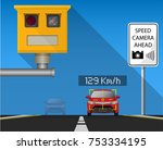 handheld speed radar lidar...   Shutterstock .eps vector #753334195