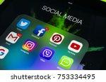 sankt petersburg russia... | Shutterstock . vector #753334495