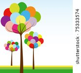 abstract springtime rainbow... | Shutterstock . vector #75333574
