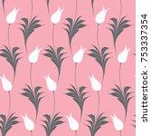 elegant iznik style tulips... | Shutterstock .eps vector #753337354
