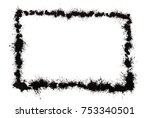 photo frame border made from...   Shutterstock . vector #753340501
