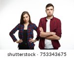 picture of displeased unshaven... | Shutterstock . vector #753343675