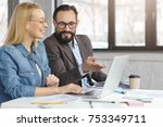 experienced mature male manager ... | Shutterstock . vector #753349711