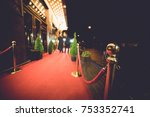 red carpet    is traditionally... | Shutterstock . vector #753352741