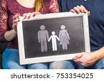having children  planning baby  ... | Shutterstock . vector #753354025