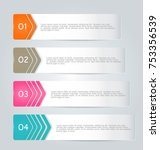 business infographic banner... | Shutterstock .eps vector #753356539