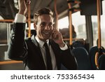 smiling young businessman... | Shutterstock . vector #753365434
