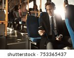 young businessman wearing a... | Shutterstock . vector #753365437