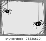 Two Cartoon Spiders Spinning A...