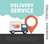 delivery service. delivery... | Shutterstock .eps vector #753370321