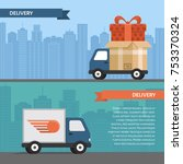 delivery service. delivery... | Shutterstock .eps vector #753370324