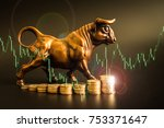 financial investment in bull... | Shutterstock . vector #753371647