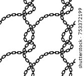 black chain easy pattern | Shutterstock .eps vector #753372199