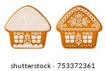 set of traditional christmas... | Shutterstock .eps vector #753372361