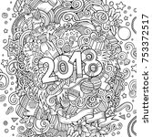 cartoon vector cute doodles... | Shutterstock .eps vector #753372517