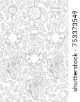 adult coloring page book a...   Shutterstock .eps vector #753373549