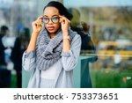 gorgeous african business woman ... | Shutterstock . vector #753373651