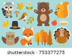 wild animal and elements such... | Shutterstock .eps vector #753377275