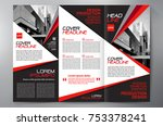 business brochure. flyer design.... | Shutterstock .eps vector #753378241