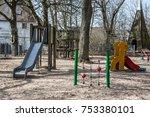 playground with equipment | Shutterstock . vector #753380101