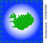 map of iceland  | Shutterstock .eps vector #753387085