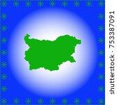 map of bulgaria  | Shutterstock .eps vector #753387091