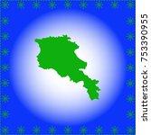 map of armenia | Shutterstock .eps vector #753390955