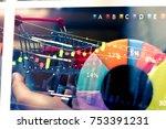 data analyzing in forex ... | Shutterstock . vector #753391231