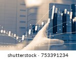 data analyzing in forex ...   Shutterstock . vector #753391234