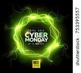 cyber monday big sale banner...   Shutterstock .eps vector #753395557