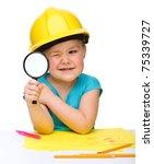 Cute Little Girl Is Looking...
