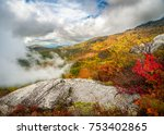 dramatic autumn scenic... | Shutterstock . vector #753402865