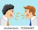 two businessmen in a tie in a...   Shutterstock .eps vector #753406087