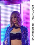 Small photo of BERLIN, GERMANY - OCT 1, 2017: Taylor Alison Swift, an American singer-songwriter, Madame Tussauds Berlin wax museum.