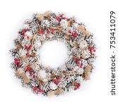 Christmas Wreath Decorated Wit...