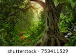 asian tropical rainforest | Shutterstock . vector #753411529