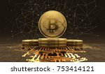 Golden Bitcoins Standing On...
