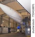 Small photo of Le Bourget, Paris, France- May 04,2017: Concord - British-French supersonic passenger airplane in the Museum of Astronautics and Aviation Le Bourget