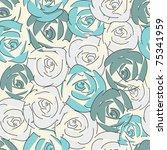 floral seamless pattern | Shutterstock .eps vector #75341959