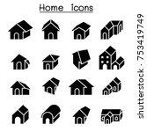 home  house  residential ... | Shutterstock .eps vector #753419749