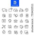 delivery app modern linear... | Shutterstock .eps vector #753420511
