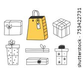 set  collection of vector... | Shutterstock .eps vector #753422731