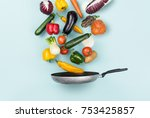 fresh healthy vegetables... | Shutterstock . vector #753425857