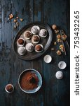 variety of homemade dark...   Shutterstock . vector #753432265