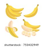 vector set of colored banana... | Shutterstock .eps vector #753432949